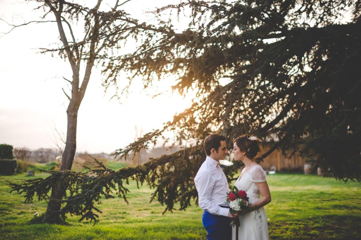 amoureux sous un arbre
