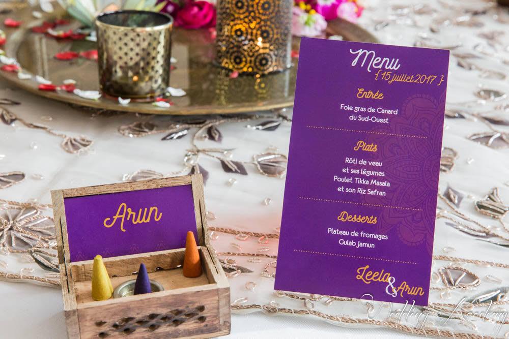 menu arabe mariage