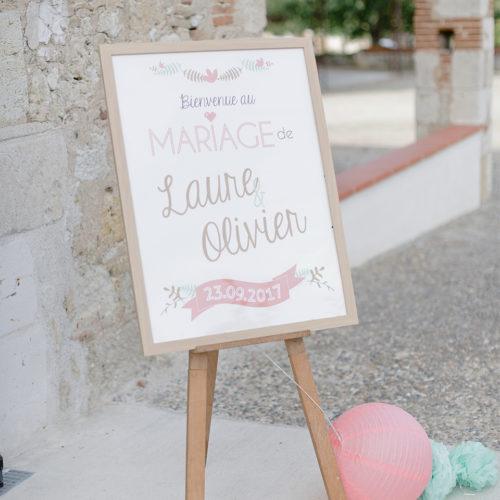 Affiche bienvenue mariage
